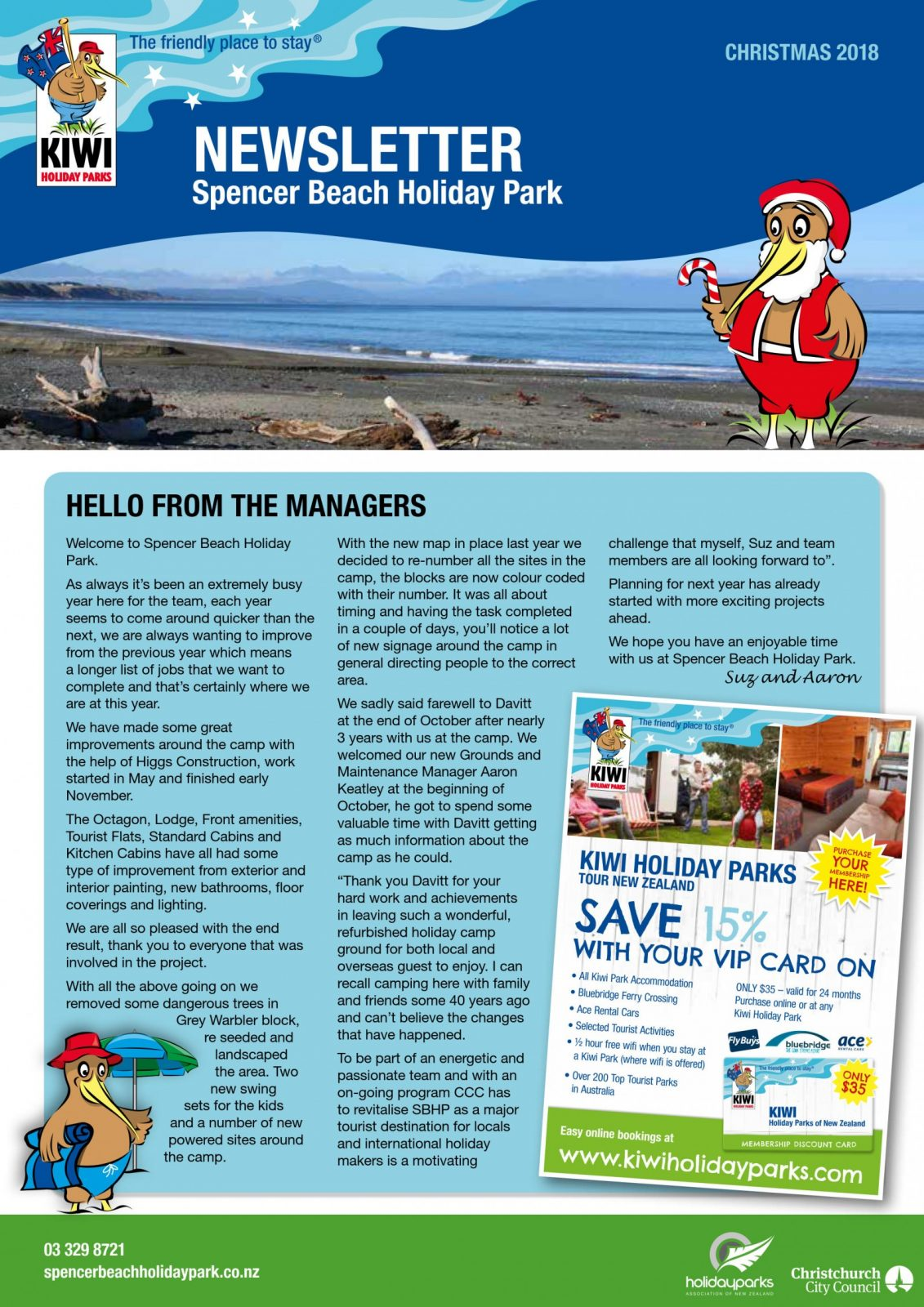 Spencer Park Christmas Newsletter 2018